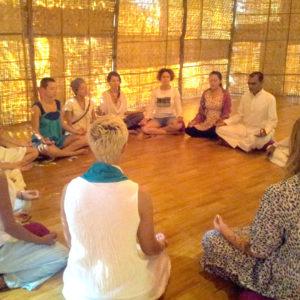 Awakening kundalini meditation group circle