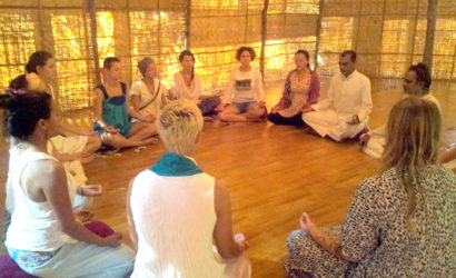 Awakening kundalini meditation group circle