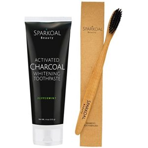 Sparkoal activated charcoal toothpaste